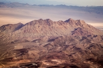 An aerial shot of a mountain range in Las Vegas Nevada