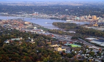 An aerial view of my hometown Quad Cities IAIL