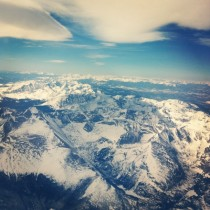 An aerial view of the beautiful Rocky Mountains of Colorado
