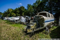 An airplane scrapyard in Central Florida