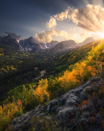 An Amazing Autumn Sunset RMNP Colorado