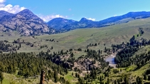 An Amazing scenic vista on the Hellroaring trail of Yellowstone National Park