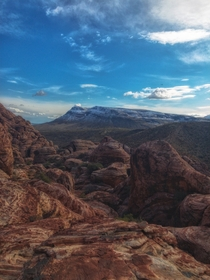 An amazing view in the Red Rock Canyon