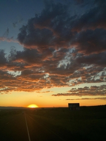 An amazing Wyoming sunset I was treated to