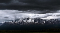 An Angry Gloom Blanketing the Mat-Su Valley Near Palmer Alaska
