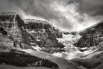 An Ansel Adams inspired shot of the Columbia Icefield in Jasper
