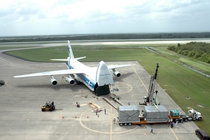 An Antonov An- unloads componets of kibo Japans science module for the International Space Station at Kennedy Space Center Space shuttle Endeavour docked with the ISS and delivered Kibo on  July
