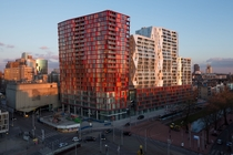 An apartment block in Rotterdam designed by Will Alsop