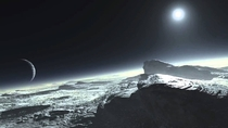 an artistic rendition of the surface of Pluto