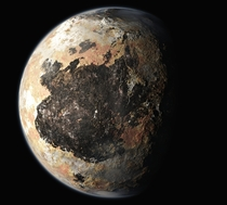 An artists concept of Pluto
