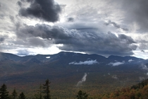 An autumn storm Brewing over Carter Notch New Hampshire