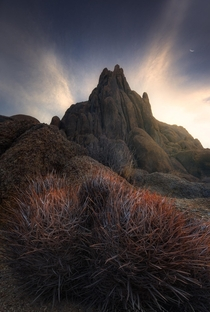 An awesome display of light in the hills of Lone Pine CA - Alabama Hills that is