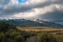 An early season dusting of snow in the Steens Mountains Oregon