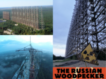 An early warning radar station Duga aka The Russian Woodpecker located near Chernobyl One of the last most expensive Cold War projects by the USSR Maintenance stopped in  after the Chernobyl fallout