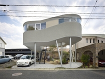 An Elevated House With A Garden Underneath - Hiroshima Japan