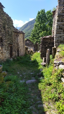 An entire abandoned village on the italian Alps