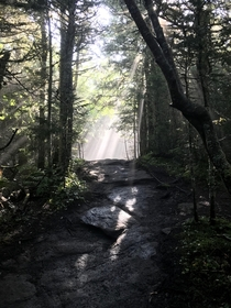 An ethereal moment while hiking Mount Cascade Lake Placid NY