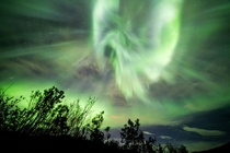 An explosive aurora over Troms Norway  Photographed by Role Bigler