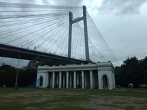 An iconic cable stayed bridge in Kolkata West Bengal India