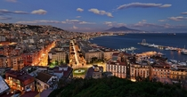 An iconic view of Naples and its fascinating Mount Vesuvius