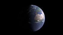 An image of earth made in blender by me