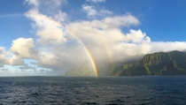An incredible double rainbow to brighten your day Na Pali Coast Kauai