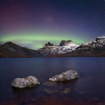 An incredible shot of the Aurora Australis over Cradle Mountain in tasmania last night by Aaron Jones