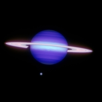 An Infrared Image of Saturn and Titan