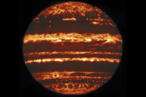 An infrared view of the Planet Jupiter taken from Earth This spectrum reveals the details of the surface