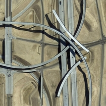 An interchange is constructed around the Pagano Freeway in Avondale Arizona USA