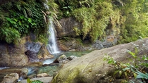 An intimate waterfall scene Hualien County Taiwan