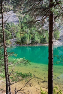 An Lochan Uaine the Green Loch in the Cairngorms National Park Scotland