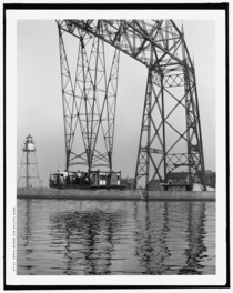 An Oddity The Aerial Bridge in Duluth Minnesota circa   x-post rHI_Res