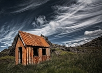 An old abandoned cabin in the countryside of Iceland  by orsteinn H Ingibergsson