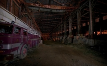 An old abandoned granite mill I found in while in Indiana I always seem to find old firetrucks OC x