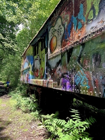 An old abandoned train car in Lambertville New Jersey