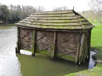 An old boathouse abandoned at Belvoir Castle grounds