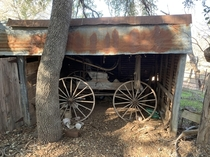 An old buggie wagon at an abandoned homesite in Central Texas