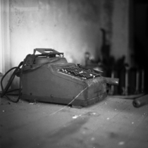 An old cash register collecting dust Meigs GA Kodak TMAX  Kowa Six