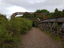 An old disused railway bridge