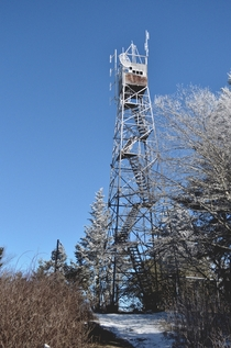 An old fire tower in the Smokies