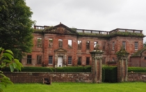 An old fortified manor house in Cumbria UK Mostly destroyed by fire in