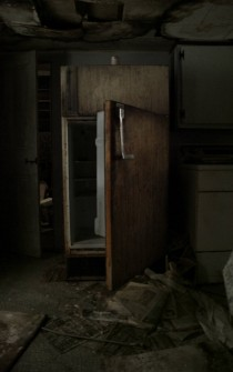 An old fridge in an old house I found today