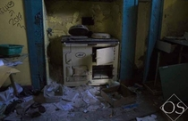 An old kitchen in Red Dress Manor near Welshpool UK