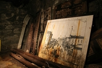An old picture of Seattle in Underground Seattle