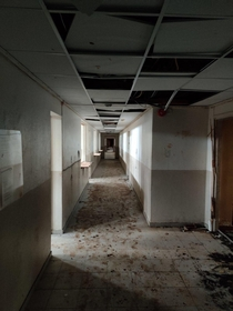 An old psychiatric bulding left to rot