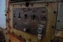 An Old Switch Panel of An Old Steam Shovel