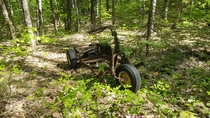 An old trike found in the middle of nowhere while sampling remote surface water locations