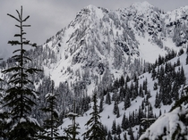 An ominous looking peak in the Mount Baker-Snoqualmie National Forest WA State  TallCupOfChocolateMilk