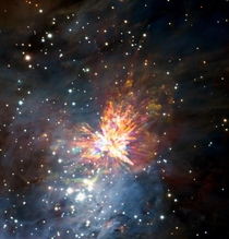 An Orion explosion that looks like fireworks